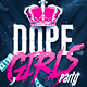 Dope Girls Pink Party | Psd Flyer Template - GraphicRiver Item for Sale