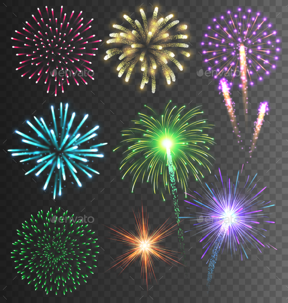 Festive Colorful Bright Firework Salute Burst - Miscellaneous Seasons/Holidays