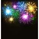 Multicolor Festive Firework Salute Burst on Black - GraphicRiver Item for Sale