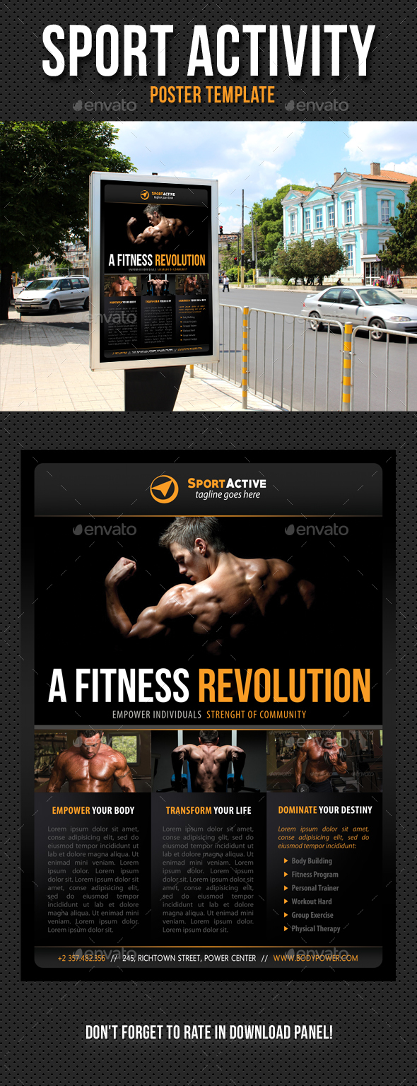 Sport Activity Poster Template V09 - Signage Print Templates