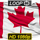 Isolated Waving National Flag Of Canada - VideoHive Item for Sale