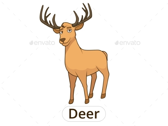 Forest Animal Deer Cartoon - Animals Characters