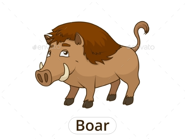 Forest Animal Boar Cartoon - Animals Characters