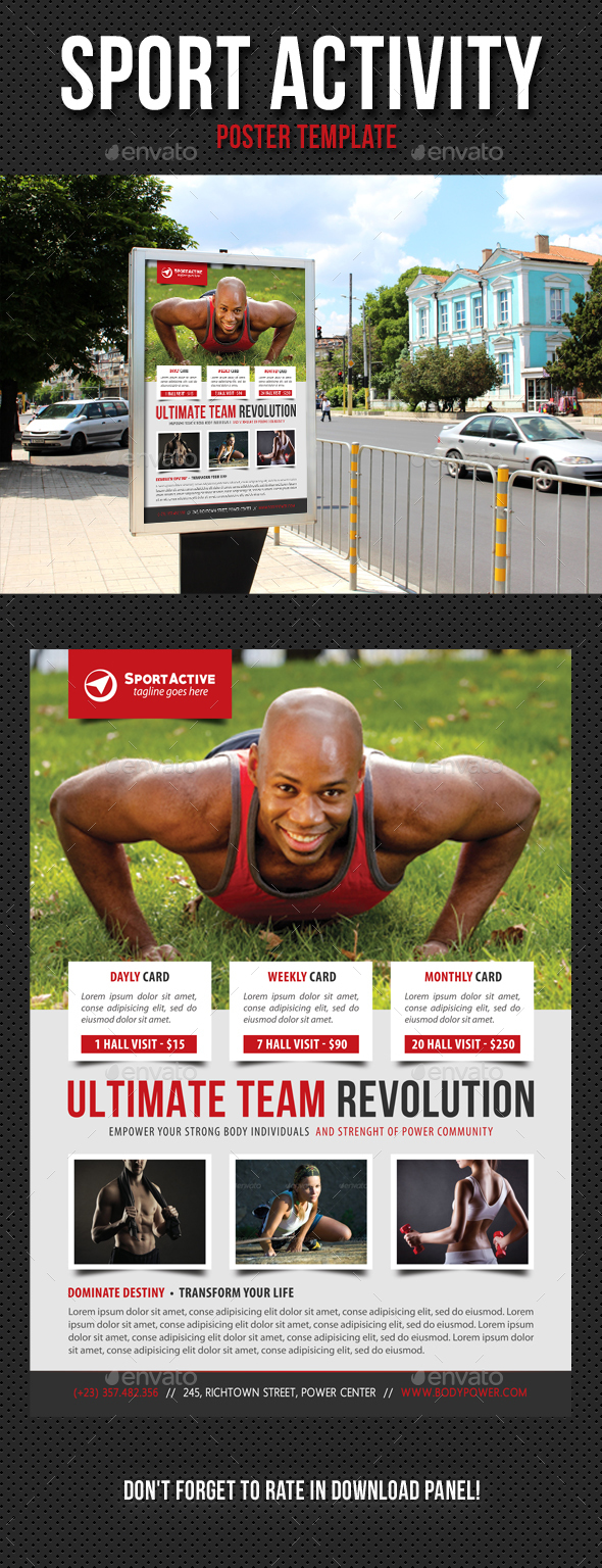 Sport Activity Poster Template V10 - Signage Print Templates