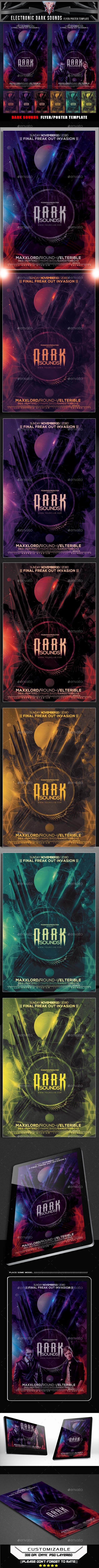 Dark Sounds Flyer Template - Flyers Print Templates