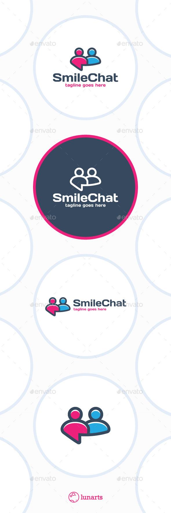 People Smile Chat Logo - Symbols Logo Templates