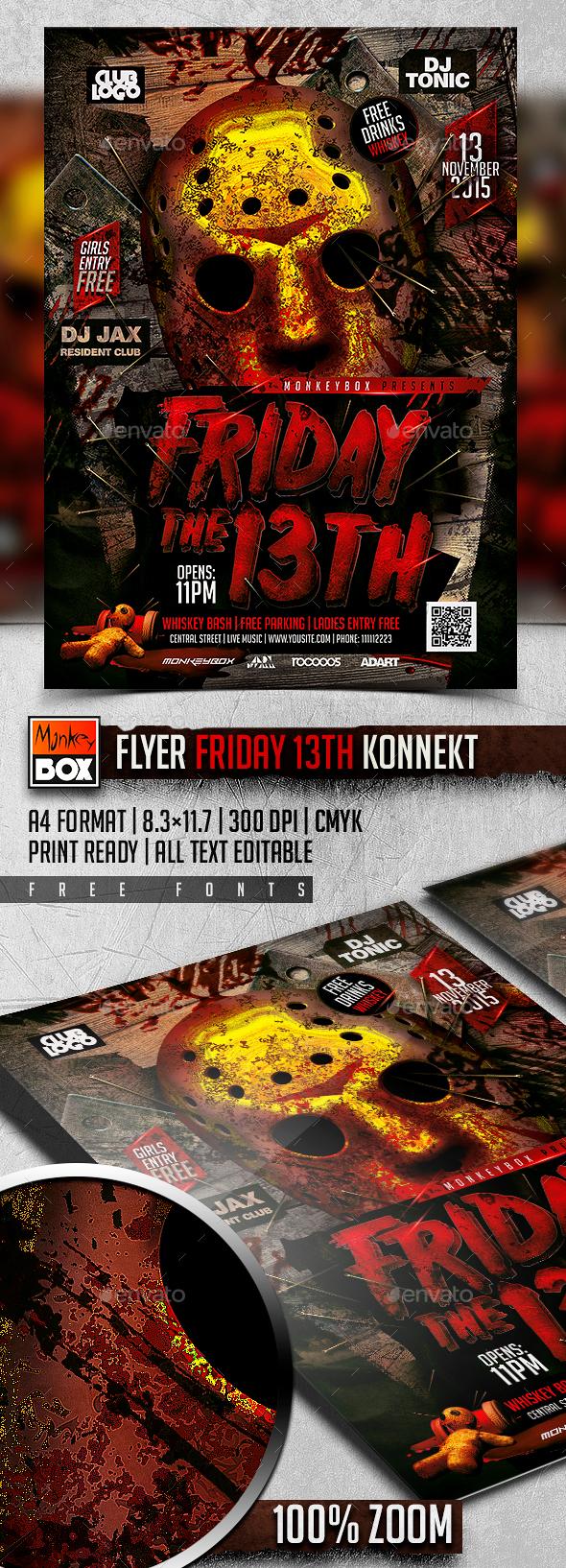 Flyer Friday 13th Konnekt - Events Flyers
