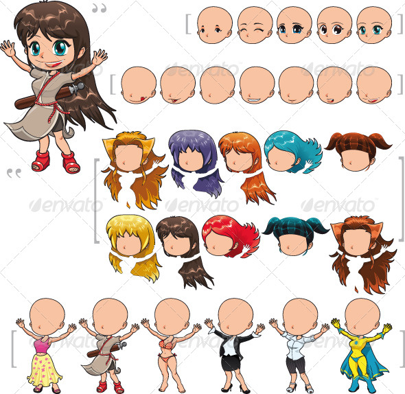 Avatar Girl - People Characters