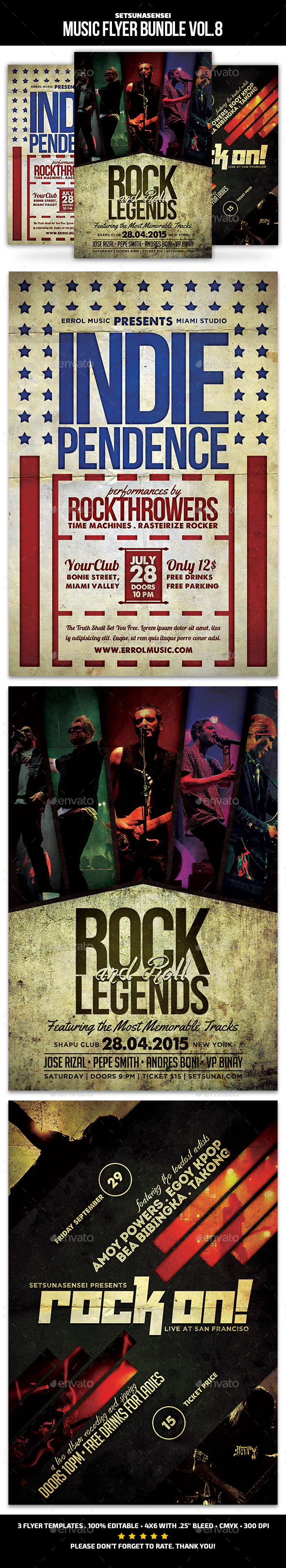 Music Flyer Bundle Vol. 8 - Concerts Events