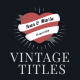 11 Vintage Romantic Titles - VideoHive Item for Sale