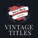 11 Vintage Romantic Titles - VideoHive Item for Sale