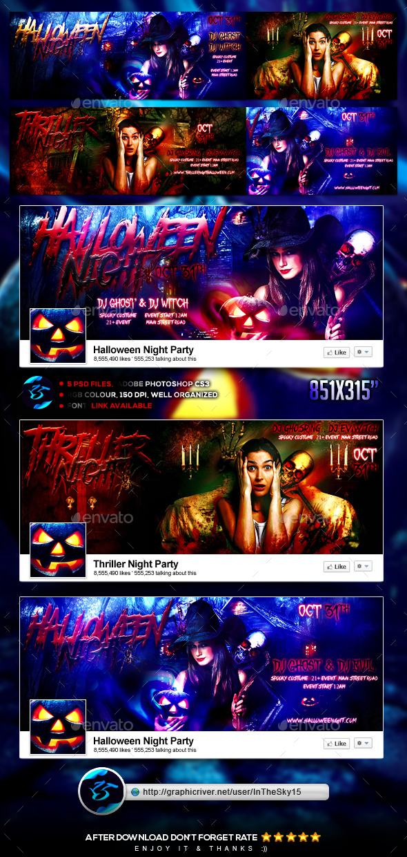 Thriller Halloween Night FB Timeline Cover - Facebook Timeline Covers Social Media