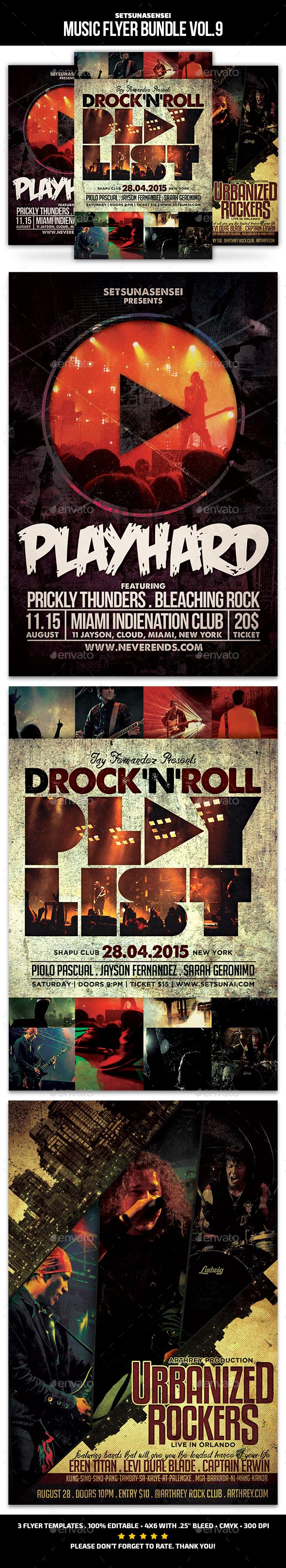 Music Flyer Bundle Vol. 9 - Concerts Events