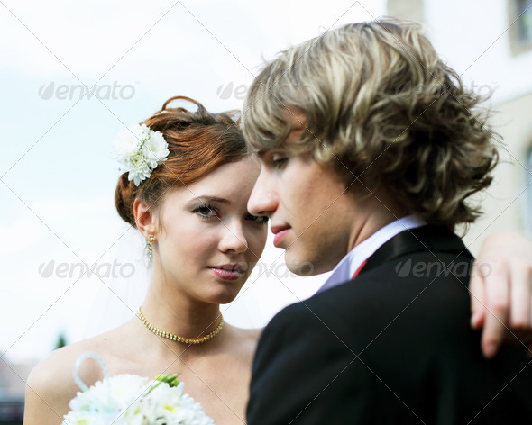 shot young couples entering into marriage - Stock Photo - Images