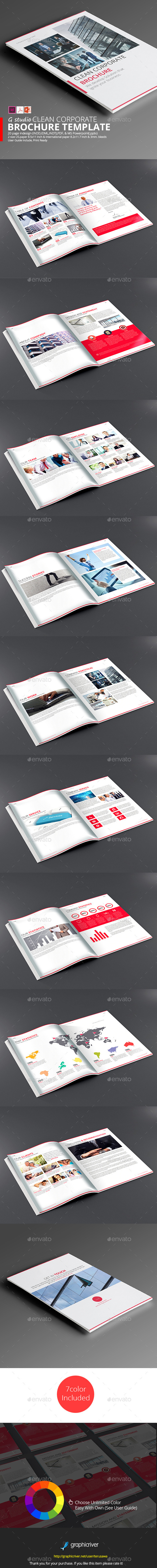 Clean Corporate Brochure Template - Corporate Brochures