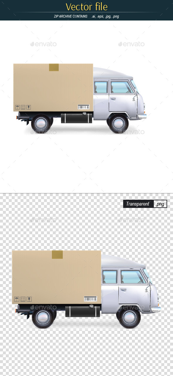 Delivery Car Editable Vector - Man-made Objects Objects