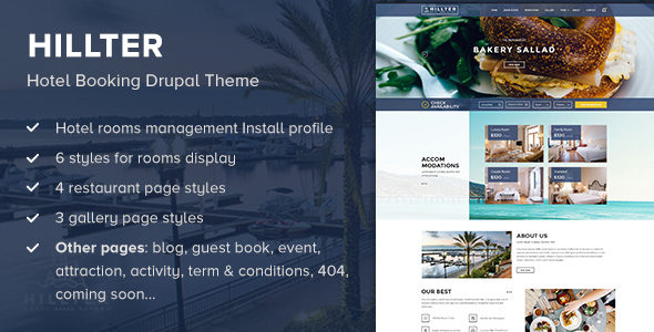 Hillter – Hotel Booking Drupal Theme