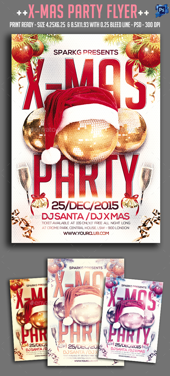 X-Mas Party Flyer - Clubs & Parties Events
