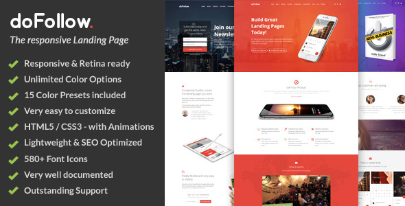 doFollow Responsive Landing Page Template - Corporate Landing Pages