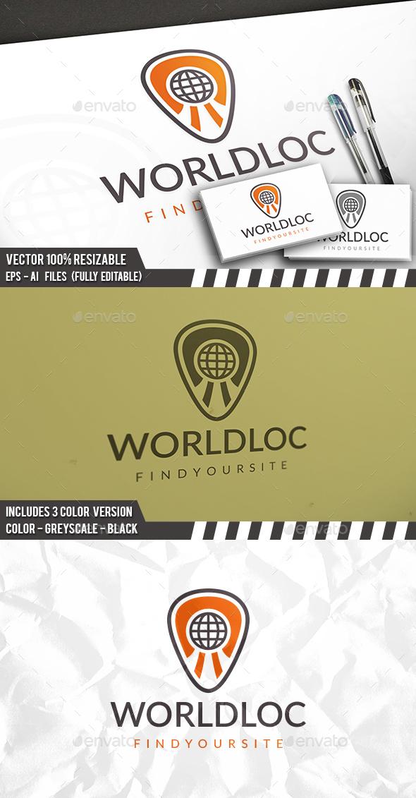 World Locator Logo - Symbols Logo Templates