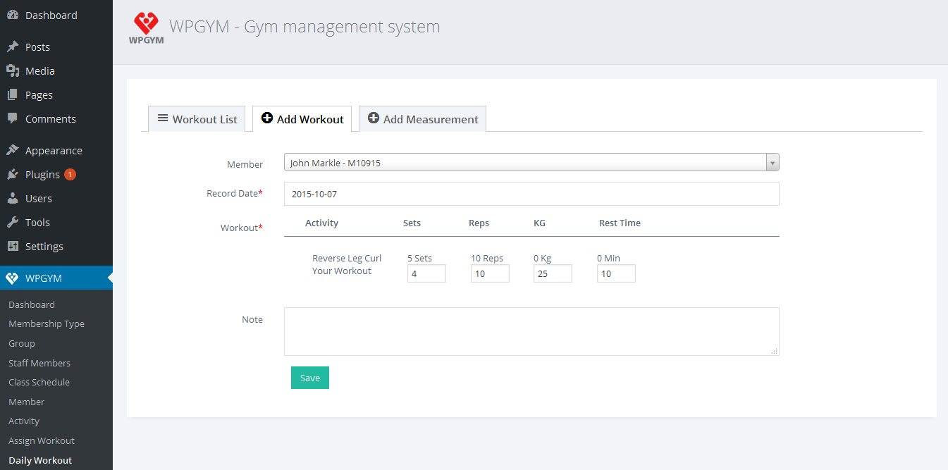 Wpgym wordpress gym management system by dasinfomedia codecanyon wpgym wordpress gym management system ccuart