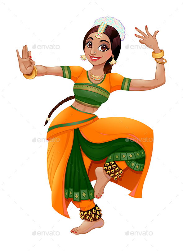 Indian Dancer - Characters Vectors