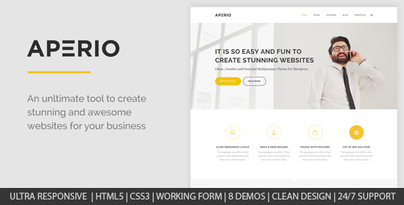 Aperio – Multipurpose HTML Template