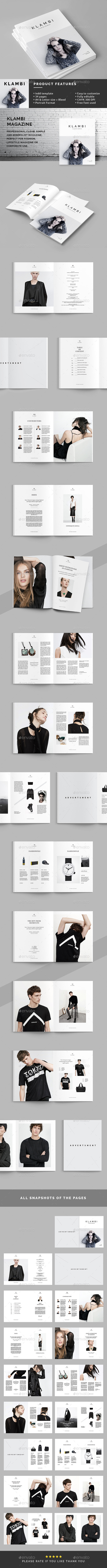 Klambi Magazine  - Magazines Print Templates