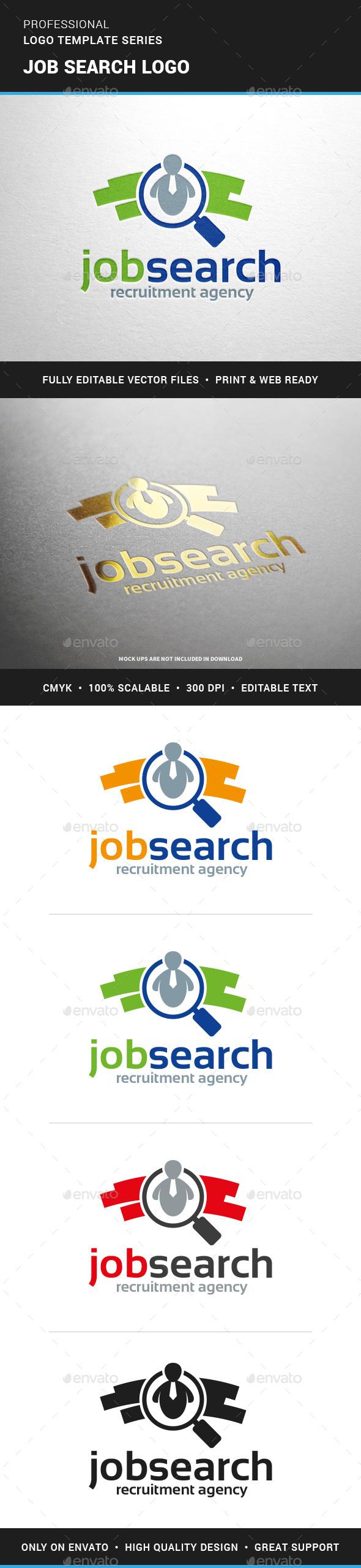 Job Search Logo Template - Humans Logo Templates