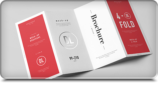 Print - Folded  Brochure Mock-ups