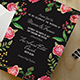 Floral Wedding Invitation Suite - GraphicRiver Item for Sale