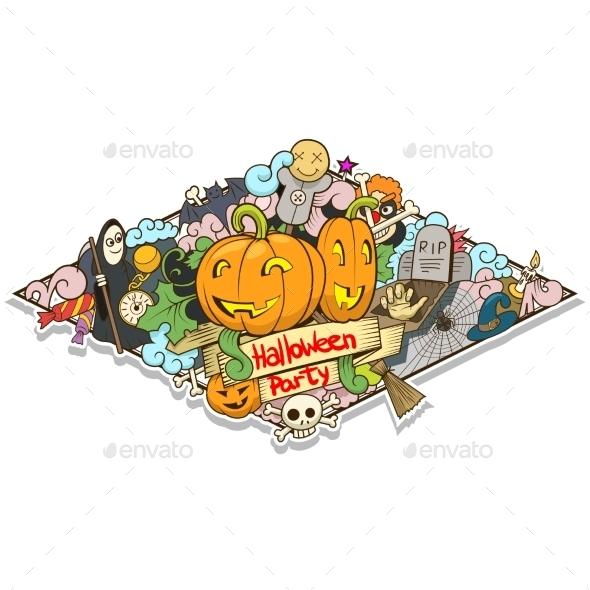 Halloween Design Vector Illustration - Halloween Seasons/Holidays