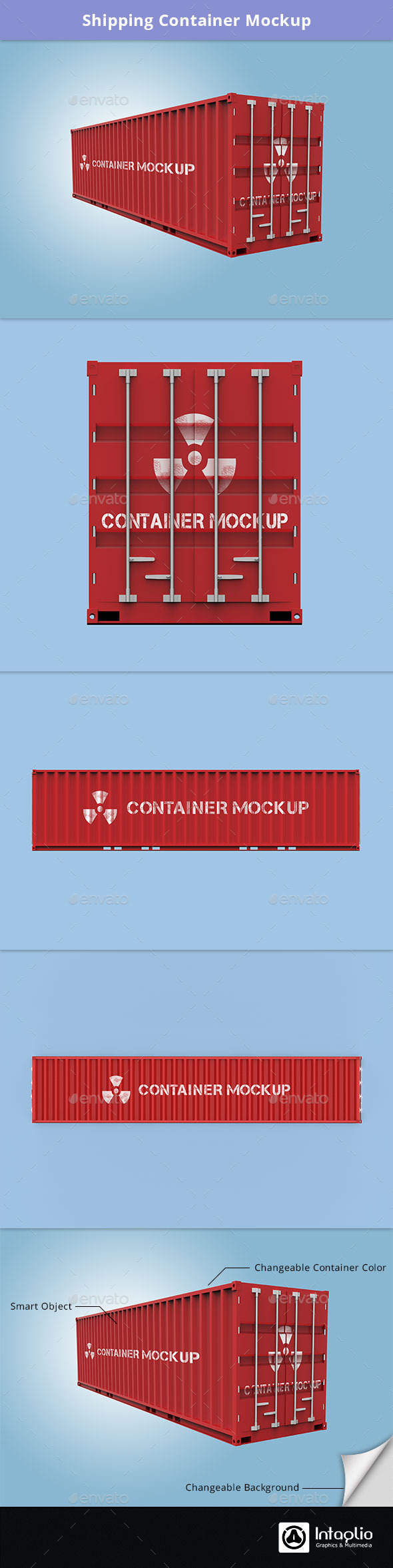 Shipping Container Mockup - Miscellaneous Print