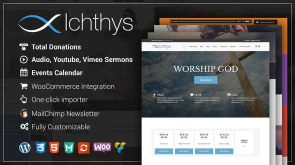 Ichthys – Church WooCommerce WordPress Theme