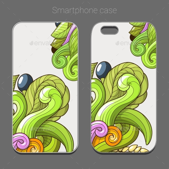 Smartphone Case Design Green Abstraction Vector - Patterns Decorative