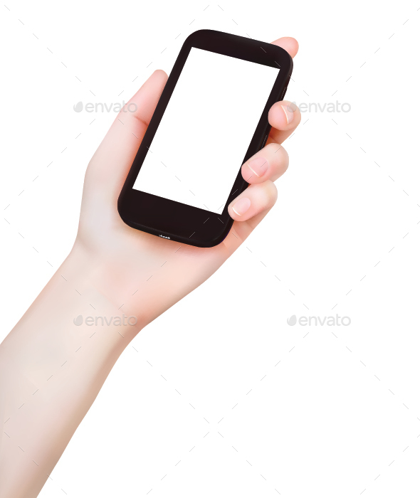 Hand Holding Phone - Concepts Business