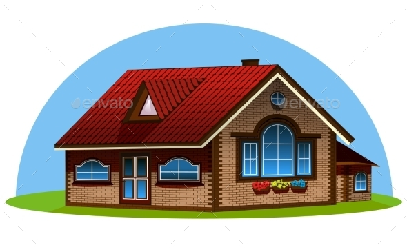 3d House Illustration - Buildings Objects