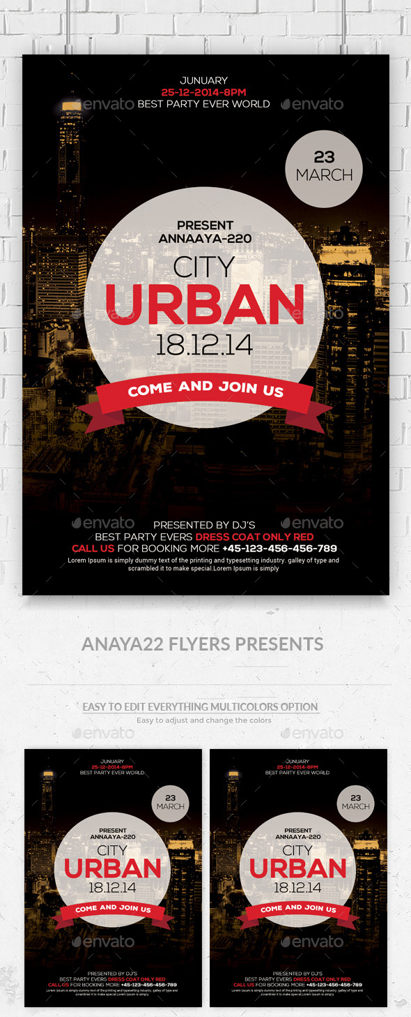 Urban City Flyer Template - Clubs & Parties Events