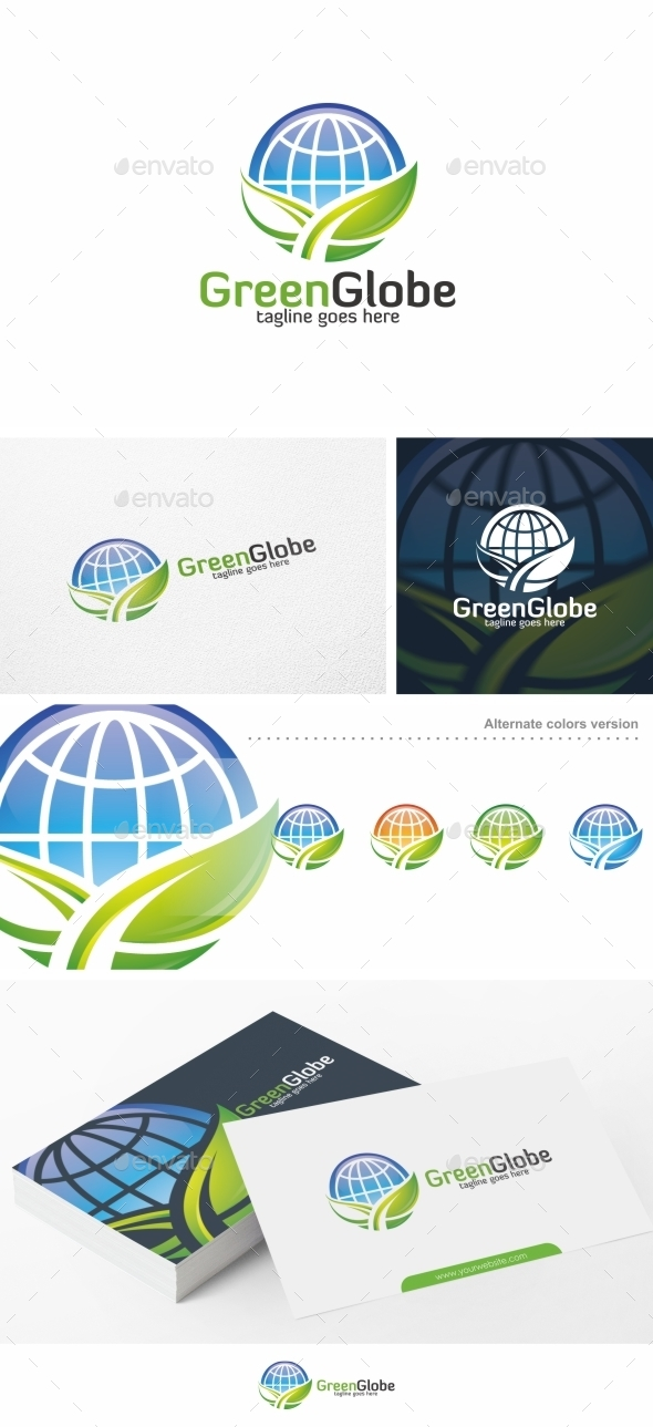 Green Globe / Global - Logo Template - Nature Logo Templates