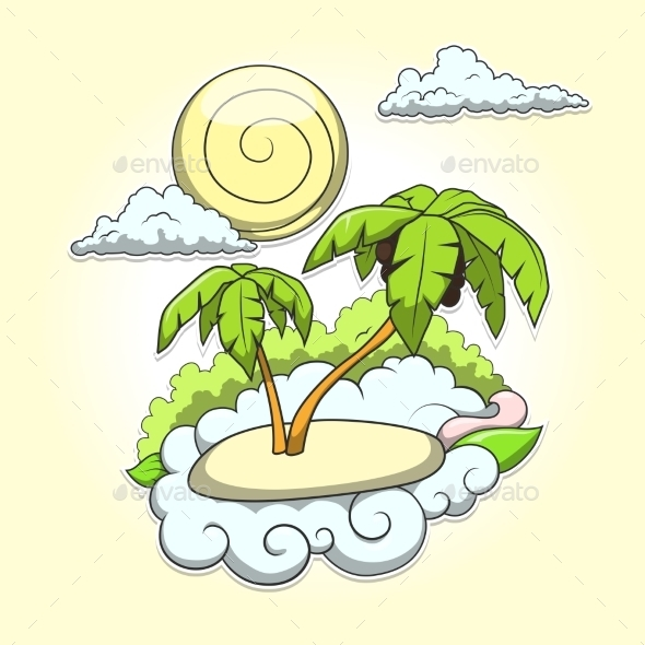 Palms Tropical Vector Illustration - Flowers & Plants Nature