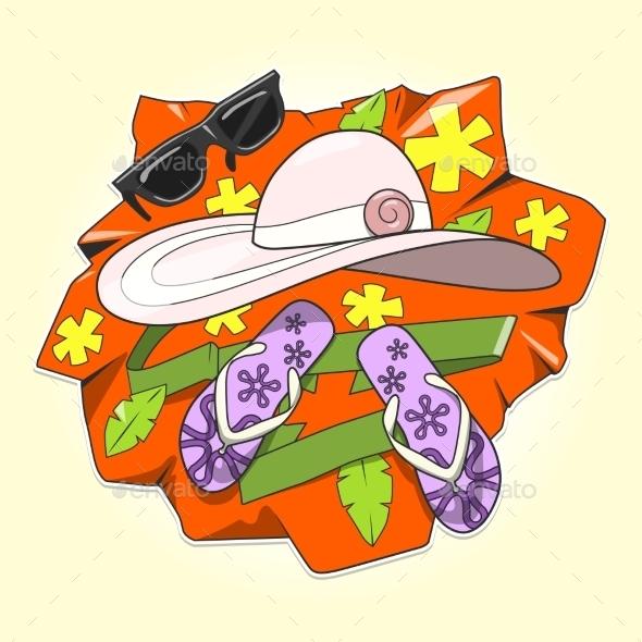 Summer Clothes Vector Illustration - Flowers & Plants Nature