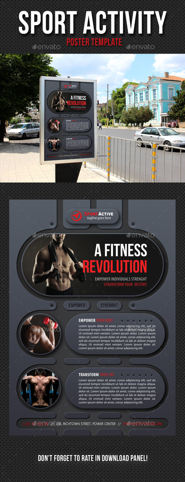 Sport Activity Poster Template V11 - Signage Print Templates