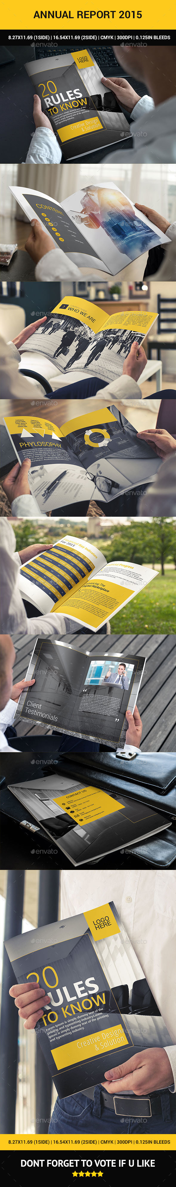 New Annual Report - Brochures Print Templates