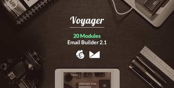 Voyager Email Template + Emailbuilder 2.1 - Newsletters Email Templates