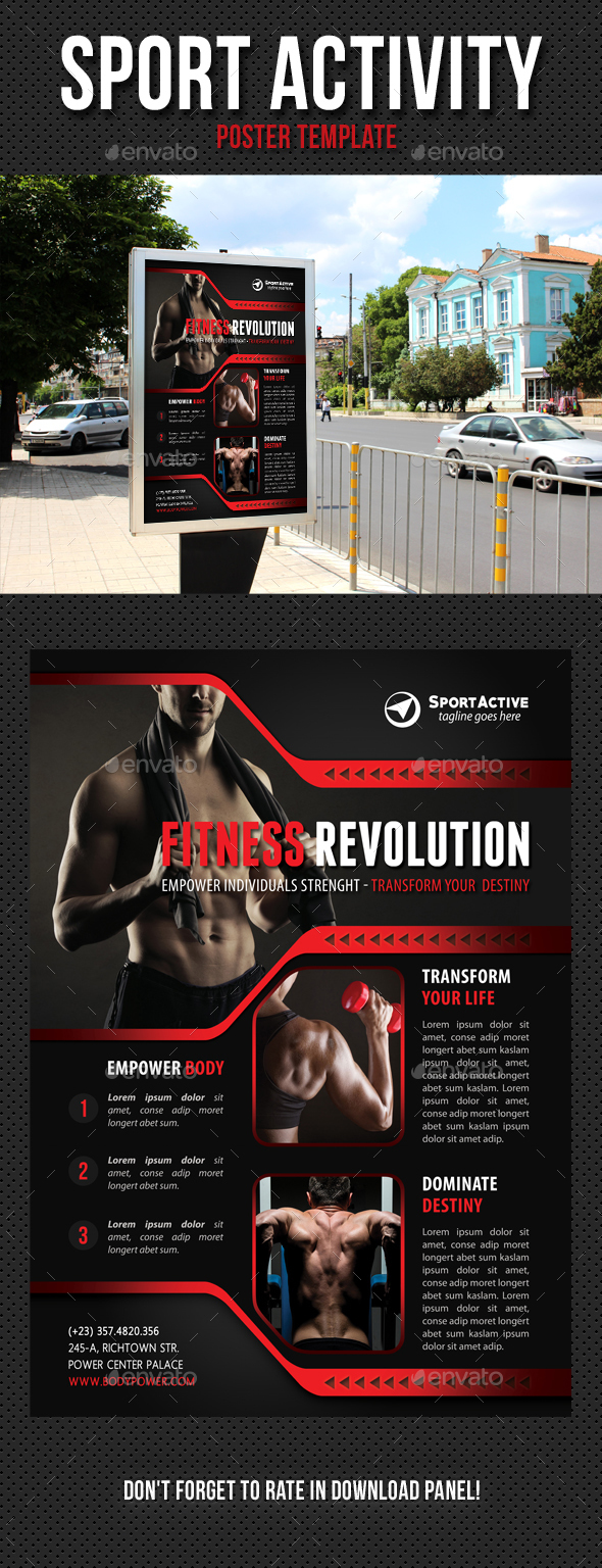 Sport Activity Poster Template V12 - Signage Print Templates
