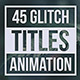 Glitch Geometric Titles & Lower Thirds - VideoHive Item for Sale