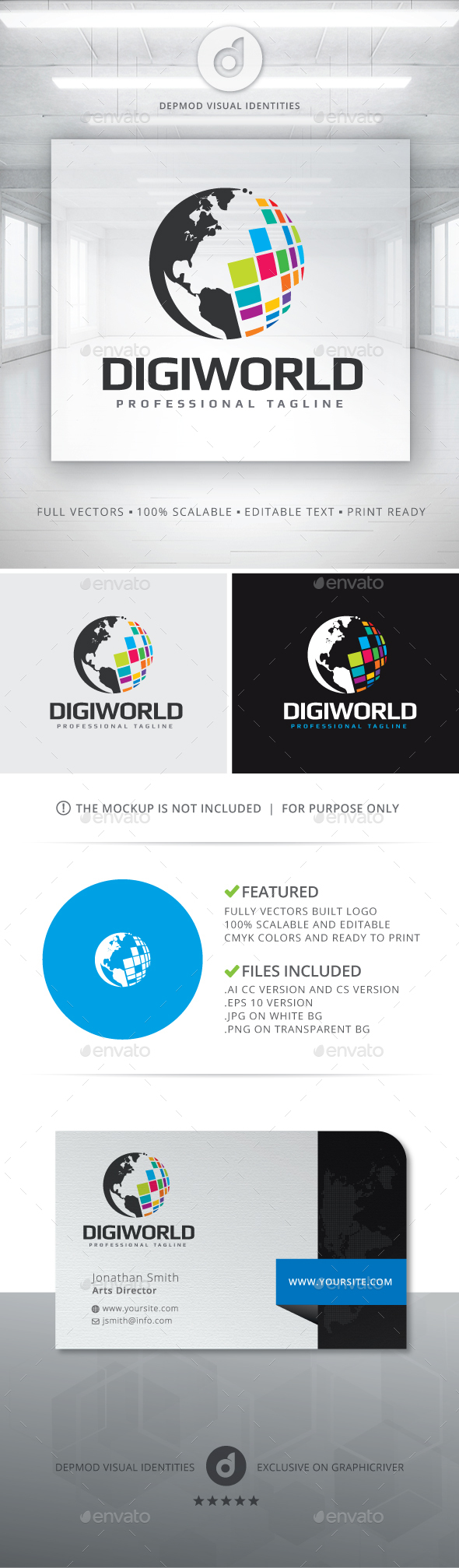 DigiWorld Logo - Symbols Logo Templates