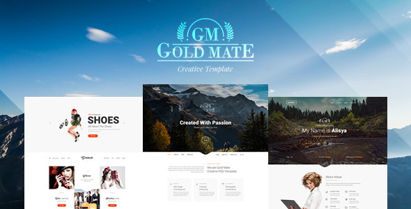 GoldMate – Multipurpose PSD Template
