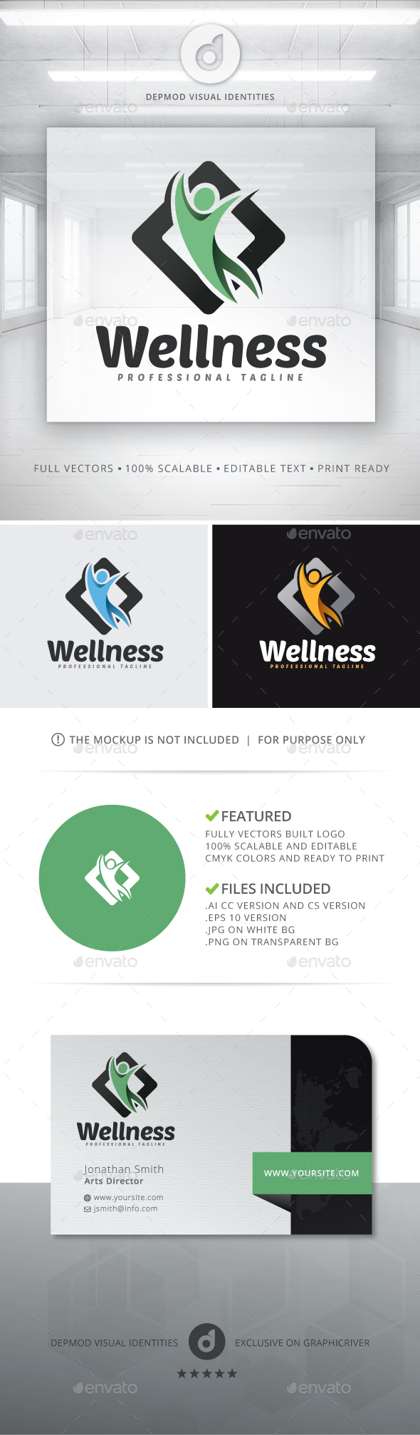 Wellness Logo - Humans Logo Templates
