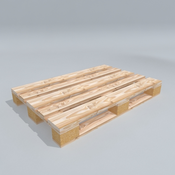 Low Poly 3D Model Wood Pallet - 3DOcean Item for Sale